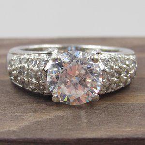 Jewelry - Size 6 Sterling Silver Elegant CZ Diamond Ring